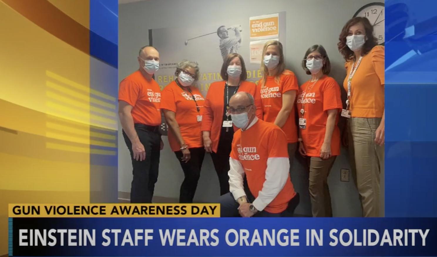 Wear Orange Weekend at Einstein